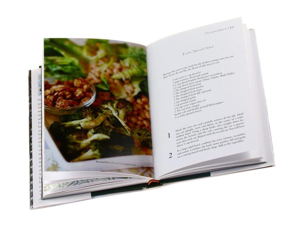 Design a hardcover cookbook
