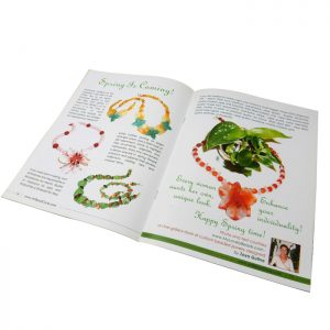 high quality jewelry booklet printing