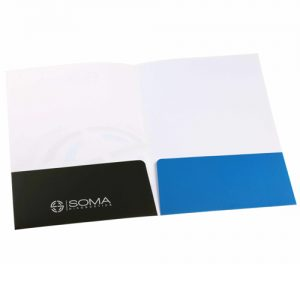 two pocket presentation folder printing