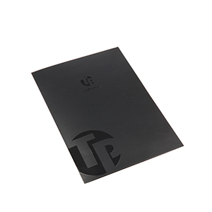 presentation folder with spot UV printing
