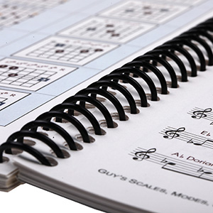 spiral binding music book printing