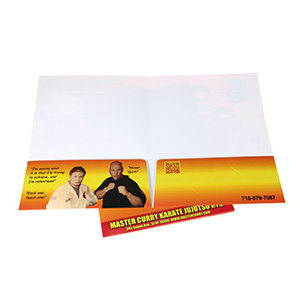 two pocket folder with name card slit