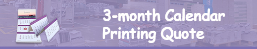 3-month calendar printing quote