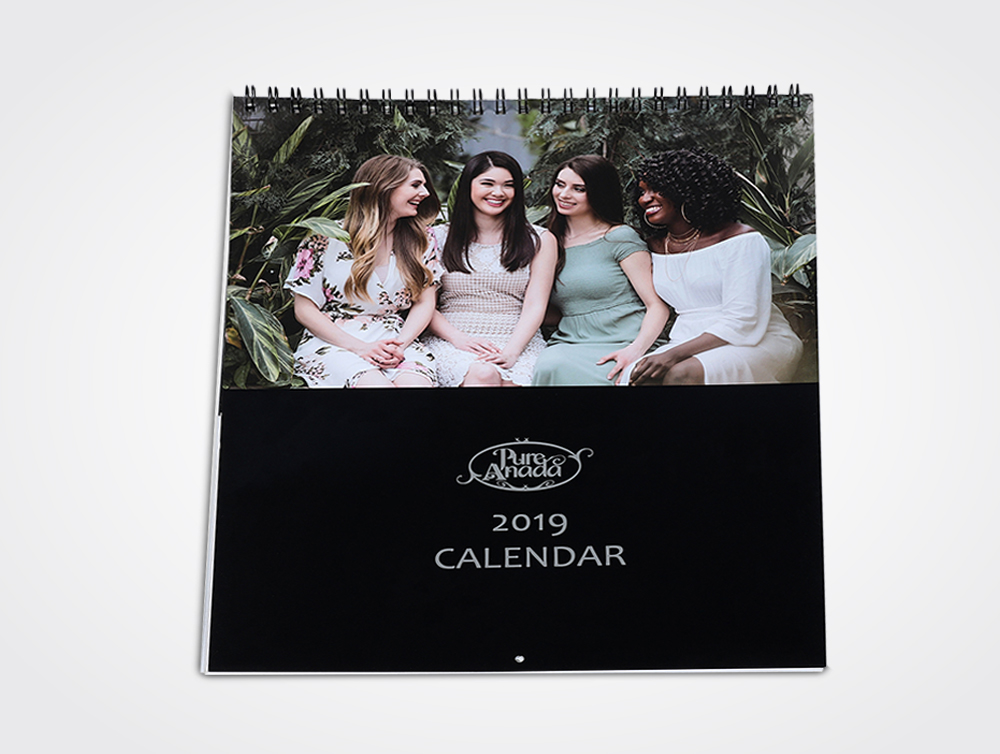 Wire-O bound wall calendars printing