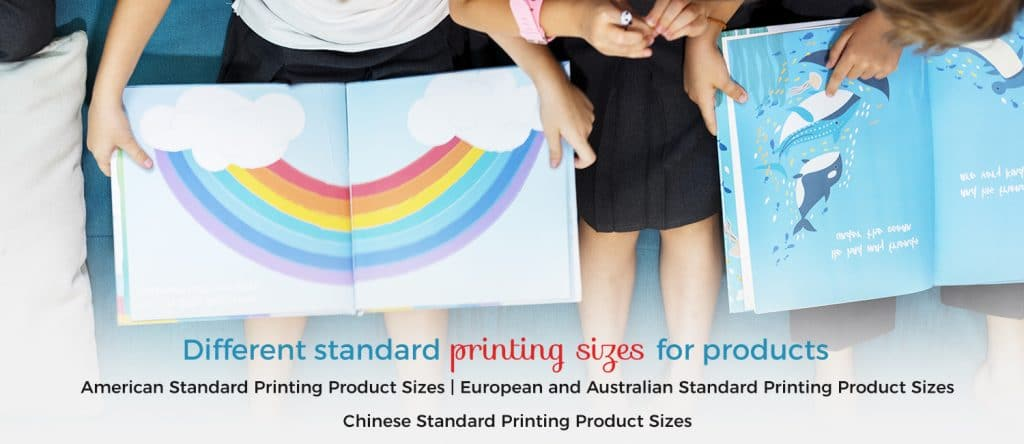 printing products size